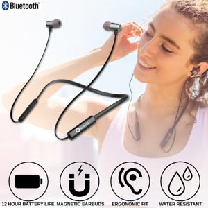Wireless Bluetooth Headphones Earbuds Sweatproof Neckband Headset with Mic Best