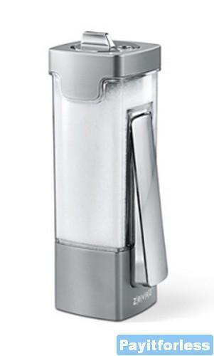 Zevro EMY102c One Click Sugar Salt Container Dispenser Silver Chrome