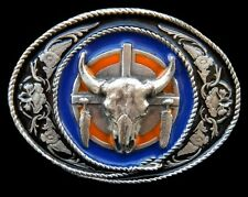 Longhorn Belt Buckle Cow Steer Longhorns Western Belts Buckles Boucle Ceinture