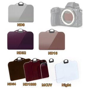 Clip-in CMOS Filtre UV ND8 ND16 ND32 ND64 ND1000 nuit pour Nikon Z5 Z7 II Z 6 7