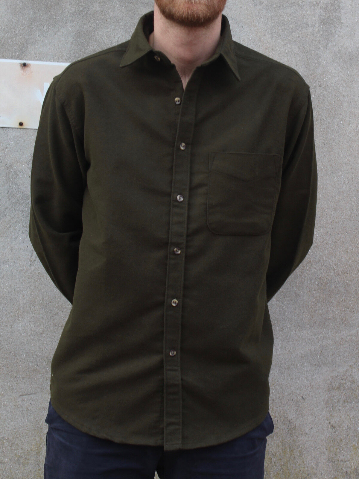 Deep Olive Grün Moleskin Country Country Country Shirt by Tails and the Unexpected     | Lebensecht  8c012d