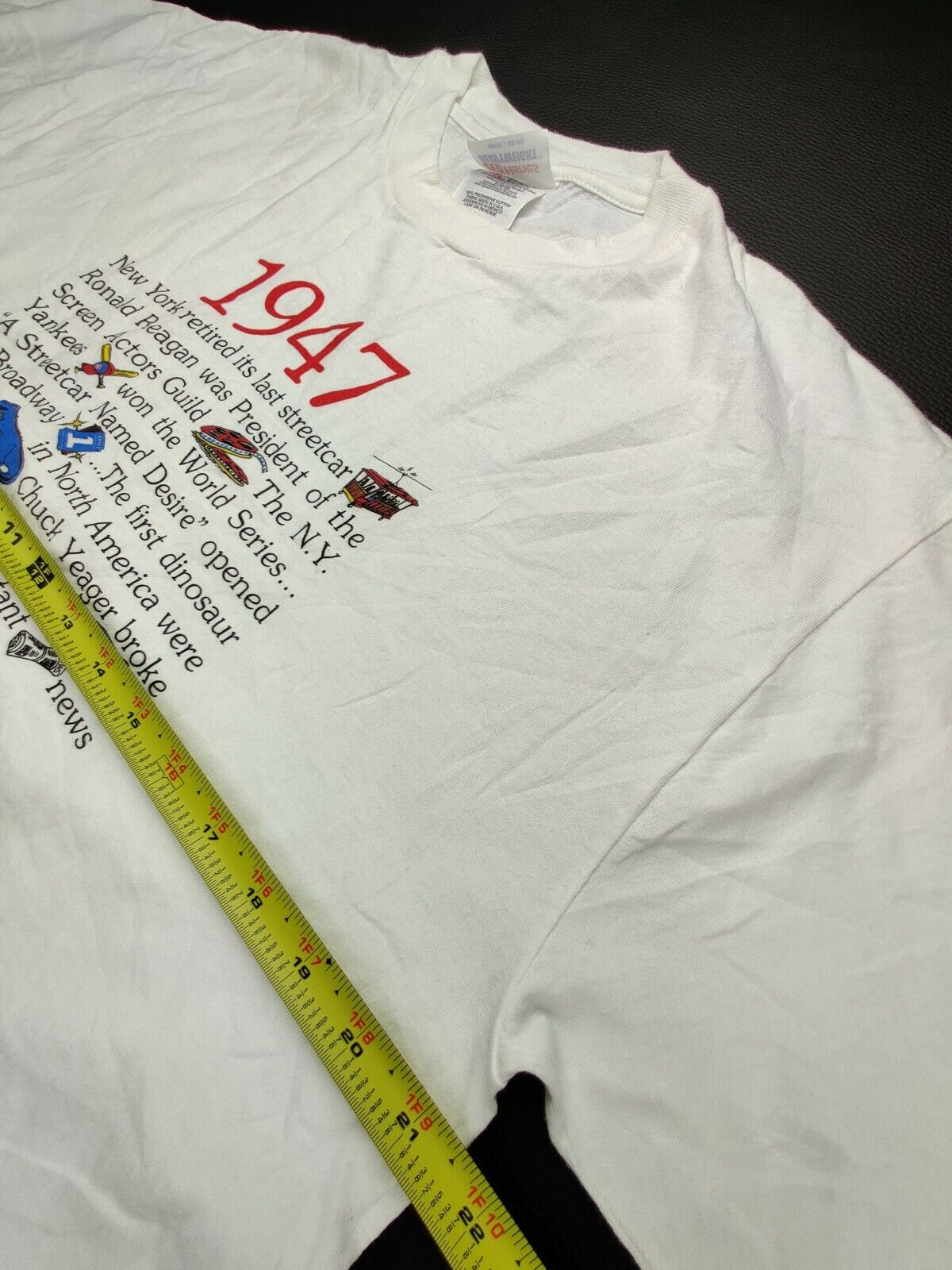 """Hanes Heavy Weight """"Vtg"""" Men's Large """"I Was Born … - image 8"""