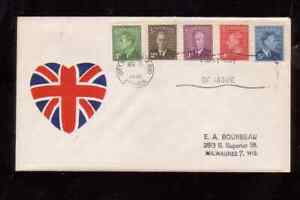 Canada 1949 FDC 1st day cover KGVI definitives uncertain cachet Ottawa cancel