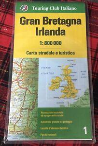 Irlanda Cartina Turistica.Gran Bretagna Irlanda Cartina Stradale E Turistica 1 800 000 Touring N Ebay