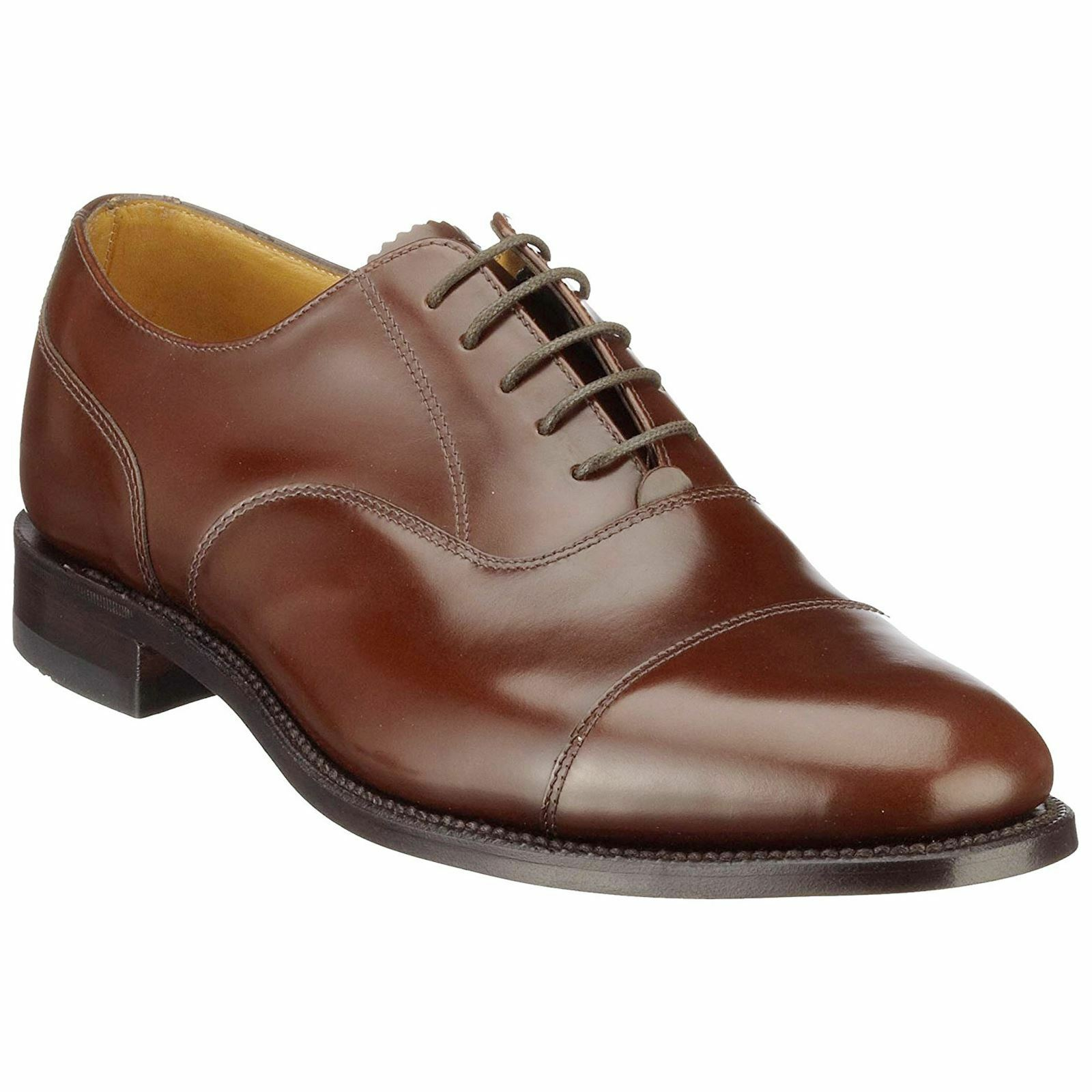 Loake 200 Braun Mens Leder Oxford Formal Smart Lace-up Schuhes