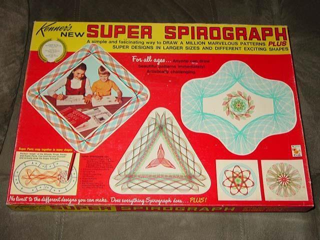Vintage Kenner - Super Spirograph gioco  -   completare Very Nice Contents - Set  6  risparmia il 35% - 70% di sconto