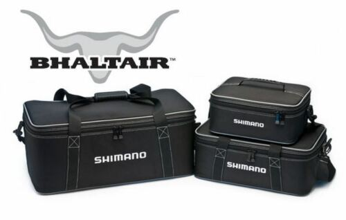 Black-Adjustable Compartments Shimano Bhaltair Reel Storage//Travel Case