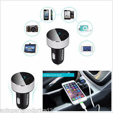Dual USB Car Charger Adapter Voltage Tester DC 5V 3.1A For iPhone Samsung HTC
