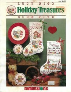Dimensions-HOLIDAY-TREASURES-Book-5-for-Counted-Cross-Stitch-Stockings-amp-More