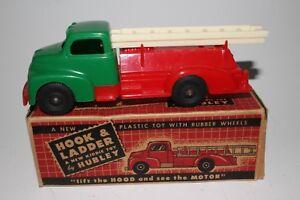 594ms Hubley Gmc Plastique Camion De Pompier, Avec Boîte D'origine