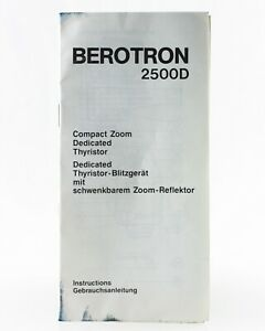 Bedienungsanleitung-Berotron-2500D-2500-D-2500d-Instructions