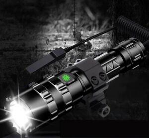TACTICAL-GUN-RIFLE-TORCH-CREE-LED-USB-CHARGING-XML-L2-FLASHLIGHT-HARD-CASE