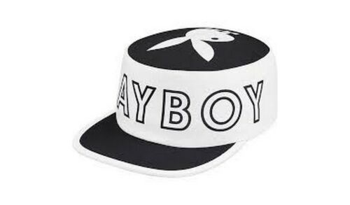 SUPREME Playboy Pillbox Hat White Red box logo camp cap tnf lv S//S 17