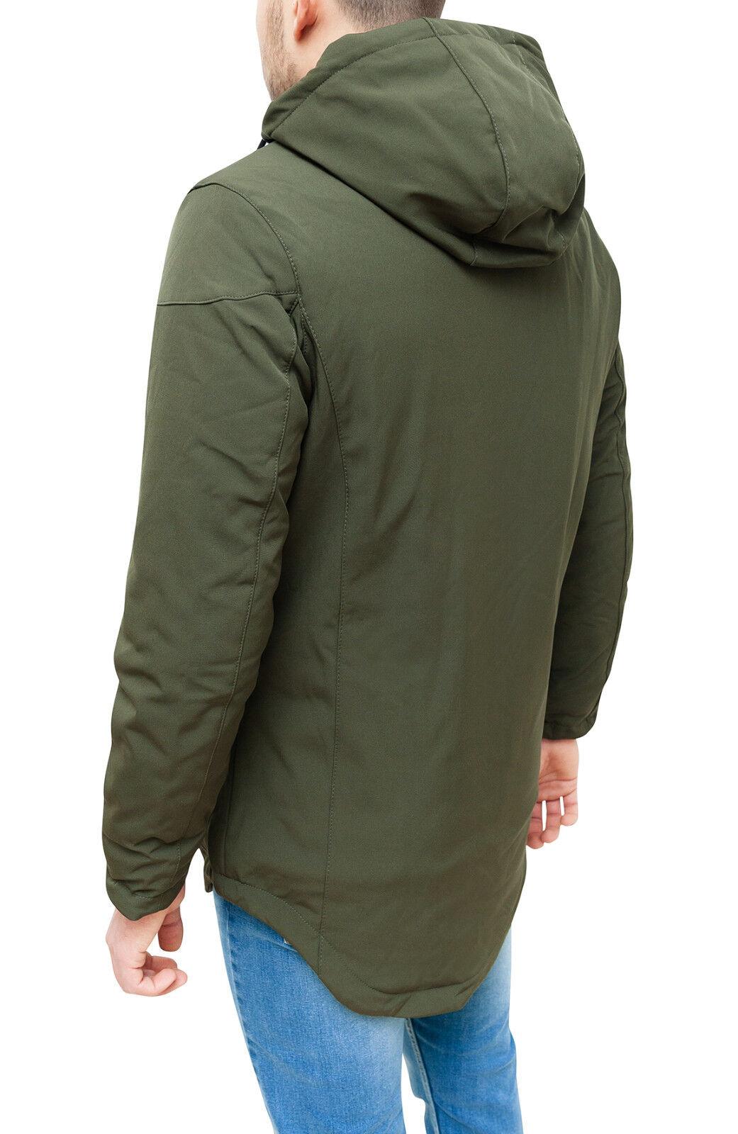 Giubbotto piumino uomo invernale cappuccio verde casual sportivo Parka con cappuccio invernale a0ebf9