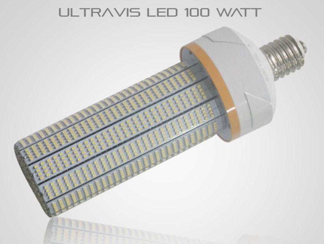 (Lot of 6) LED 100W High Bay Indoor Retrofit Corn Light, 5K Farbe, E39, UL