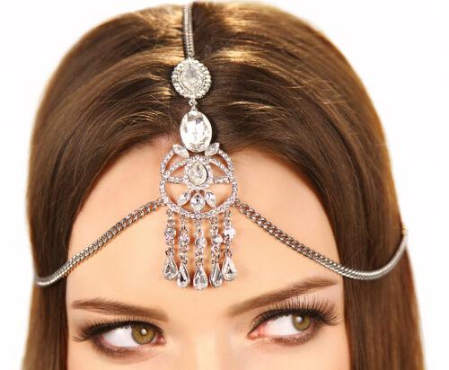 Kristin Perry Crystal Bridal Grecian Fringe Chain Pendant Prom Bridal Headpiece