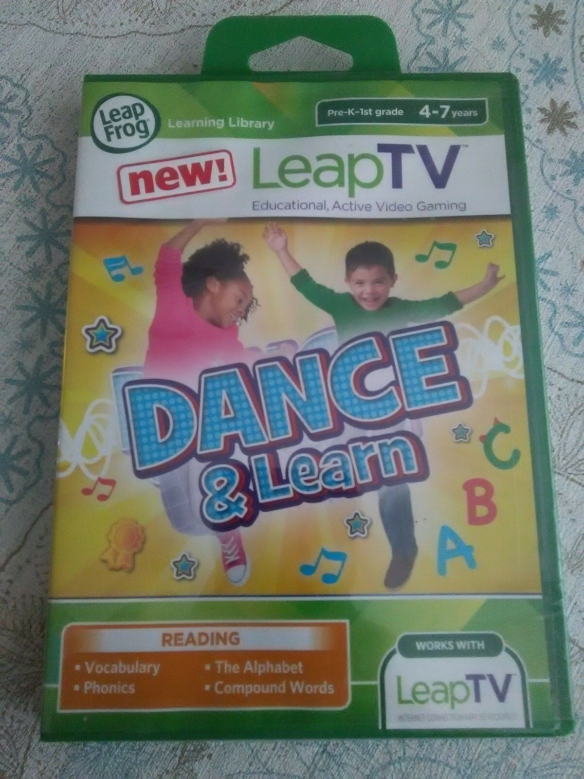 Leapfrog Leap TV Game   Dance and Learn Educational Game for LeapTV NEW