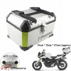 Universal Silver Motorcycle Scooter Luggage Top Case Tail Box Holder Fits Bmw Ebay