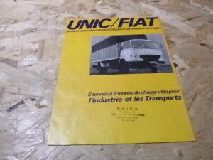 tract-publicitaire-en-Francais-unic-Fiat-camion-vintage-4-pages