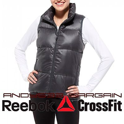 Down Vest Women Puffy Gilet Padded North Winter Jacket Quilted Top XS S Reebok