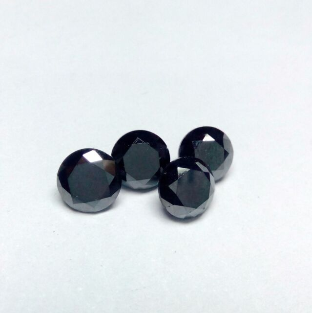 1.5mm to 5.5mm Real Natural Black Diamond Round Calibrated Loose Diamonds