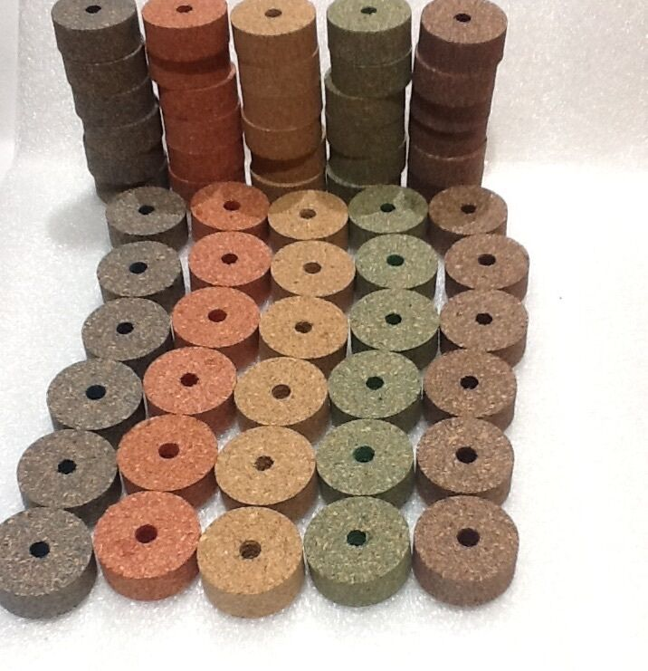 Cork Rings Superior  Burl  Assortment ,  5 colors, 60 Rings, 1 1 4  x 1 2  x 1 4   quality product