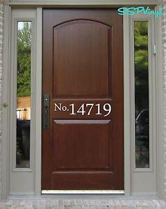 Address Vinyl Door Decal Door Address Decal