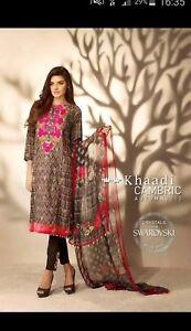 Abito da firmato cucito Khaadi donna pakistano RwqYxBRrn