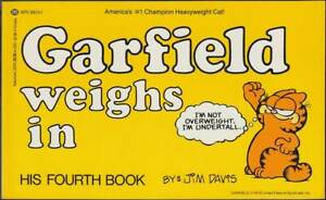 Charmant Garfield 4th Book: Garfield Weighs Dans (anglais, 1. édition 1982) Z 1 --afficher Le Titre D'origine