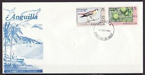 Anguilla, Scott cat. 387-388. Scout o/print on Def issue on a First day cover.