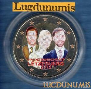 2 euro Commémo Couleur Color Luxembourg 2012 Mariage du Grand Duc Luxembourg