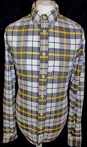 Abercrombie-amp-Fitch-Muscle-Homme-Bucheron-a-Carreaux-Shirt-a-Manches-Longues-Taille-L