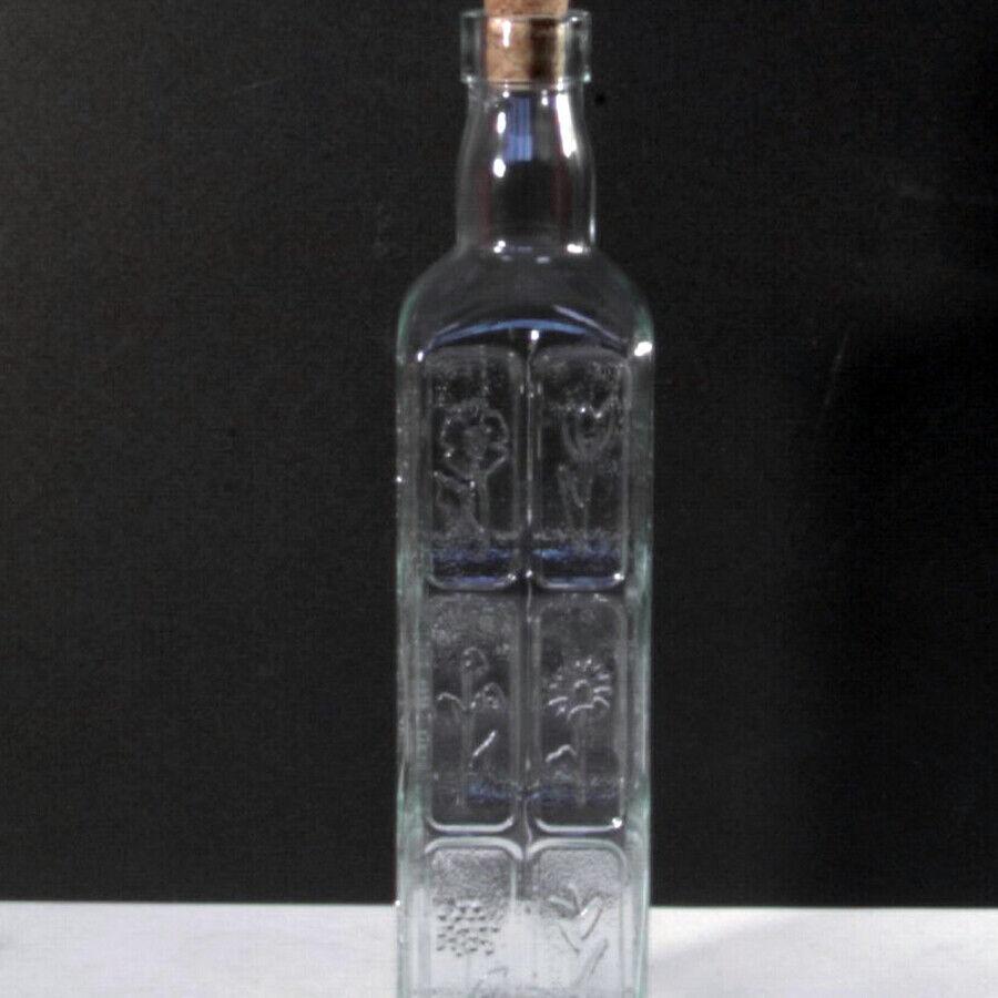HOME Set 12 Bottiglie vetro fiori tappo in sughero cl50 Brocche e bottiglie