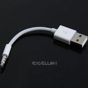 Charger-Data-USB-3-5mm-Sync-Audio-Cable-11cm-for-Apple-iPod-Shuffle-3rd-4th-Gen