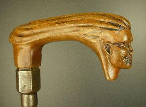 Baston-mascota-car-arte-de-deco-head-curiosidad-popular-folk-art-cane