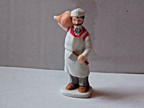 Lefton Colonial Village Figurines New Old Stock 93/' #00968 Butcher Mr White