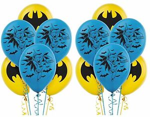 Image Is Loading 12ct BAT MAN Printed Latex Balloons Birthday Party