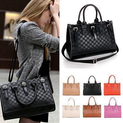 Women OL Shoulder Bag Handbag Totes Faux leather Messenger Hobo Black