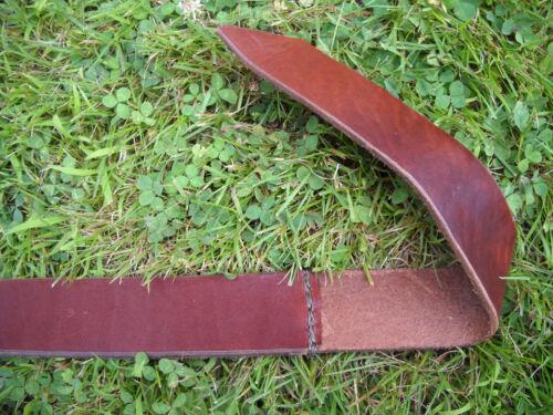"Handmade Double O-Ring Leather Belt Heavy Duty 1 3//4/"" 1.75 Inch Wide Mens//Womens"