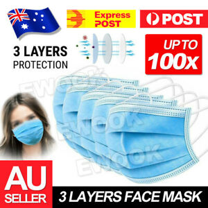 10-50-100x-Face-Mask-Protective-3-Layer-Mouth-Masks-Filter-Ship-In-Stock-Now-AU