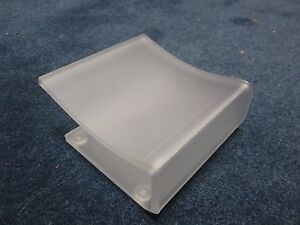 LOT OF TWO!! Clear-Frosted Acrylic Free Standing COOL Soap Dish Holder