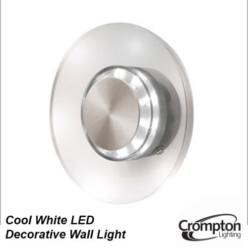 8 x LED Performance Outdoor Round Wall Light Glass Cool White 6000K 240V IP44