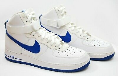 NIKE AIR FORCE 1 '82 White Hyper Blue 315121 112 Men's Size
