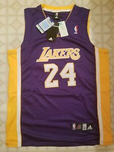 Details about NEW W/ TAGS Kobe Bryant #24 Los Angeles Lakers Adidas NBA Purple Jersey Size 52