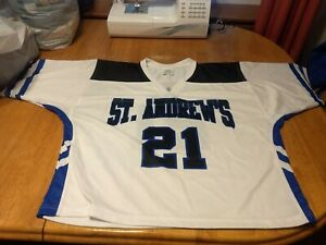 Details about White Blue St Andrews Jersey Men's Large Hockey / Lacrosse / football ?