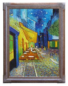Detalles De Cafe Terraza En La Noche Van Gogh Arte Cartel Impresión En Lona O Tarjeta De Papel Ver Título Original