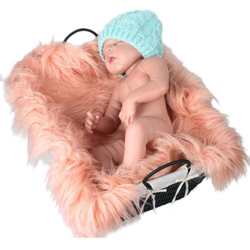 Boys /& Girls Newborn Baby Artificial Fur Backdrop Flannel Receiving Soft Blanket