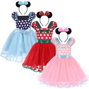 64ffe1a71 Baby Kids Girls Minnie Mouse Birthday Costume Princess Party Tutu ...