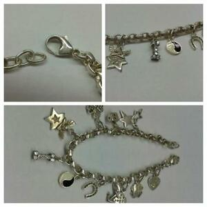 Reasonable Armband 925er Silber Silberarmband Silberschmuck Mit Anhängern Bewegl Glieder Commodities Are Available Without Restriction Jewelry & Watches