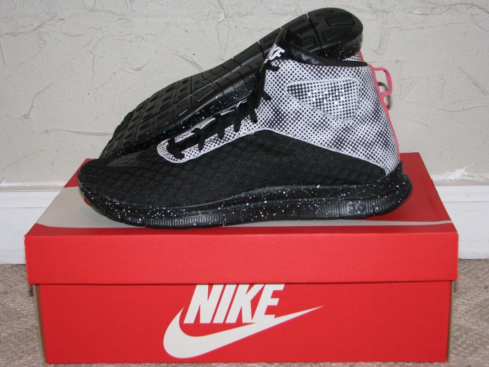 Nike Free Hypervenom Mid QS Black / White Mens Comfortable Seasonal price cuts, discount benefits